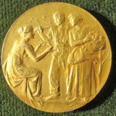Medallas históricas: MEDALLA EN BRONCE DORADO. Lote 29999815