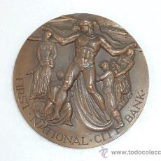 Medallas históricas: GRAN MEDALLA DE BRONCE. FIRST NATIONAL CITY BANK. 1962. Lote 31922131