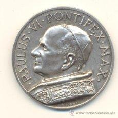 Medallas históricas: PRECIOSA MEDALLA DE PLATA PABLO VI REVERSO: SAN PEDRO Y SAN PABLO. PESO: 60 GRAMOS.. Lote 32634644