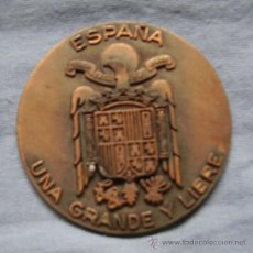 Medallas históricas: MEDALLA COBRE ESCUDO AGUILA. Lote 32642794