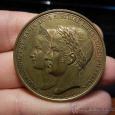 Medallas históricas: MEDALLA DE CORONACIÓN. POSIBLEMENTE ITALIANA. CON FECHA 1838. . Lote 33080447
