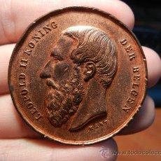 Medallas históricas: MEDALLA BELGA. FERIA DE GANADO. ÉPOCA DE LEOPOLDO II (1865- 1909). . Lote 33082263