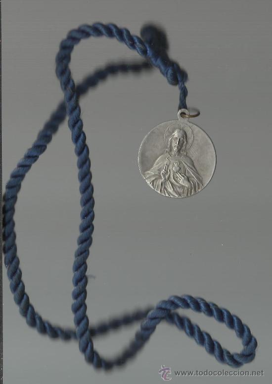 Medallas históricas: BONITA MEDALLA ANTIGUA DE LA ARCHICOFRADIA DE Nª.Sª.DEL SAGRADO CORAZON - Foto 2 - 33362387