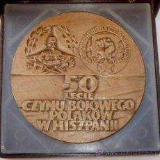 Medallas históricas: MEDALLA BRIGADAS INTERNACIONALES EN CAJA DE ORIGEN. ORIGINAL. Lote 33405973