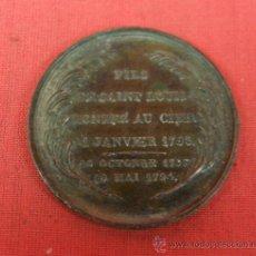 Medallas históricas: FICHA TOKEN MEDIA MEDALLA DE ESTAÑO MUERTE DE LUIS XVI LAUREA Y TEXTO S XVIII FRANCIA. Lote 33417471