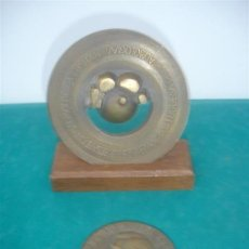 Medallas históricas: 2 MEDALLA DE BRONCE. Lote 34225597