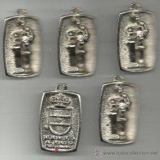Medallas históricas: JUEGO DE CINCO MEDALLAS DEL MONUMENTO AL MINERO DE PUERTOLLANO VER FOTOS. Lote 34621139