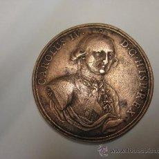 Medallas históricas: MEDALLA DE BRONCE CARLOS IV PROCLAMACION DE 1789. Lote 36375832