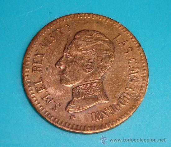 MEDALLA VISITA DEL REY ALFONSO XIII A LAS CAVAS CODORNIU 1904, SANT SADURNI D'ANOIA, ERROR GRABACION (Numismática - Medallería - Histórica)