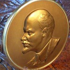Medallas históricas: MEDALLÓN O PLACA DE LENIN. . Lote 36877984