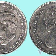 Medallas históricas: GRAN BRETAÑA 1981. H.R.H. PRINCIPE DE DE WALES Y LADY DIANA SPENCER REV. ISABEL II SC. COBRE-NIQUEL. Lote 37294602