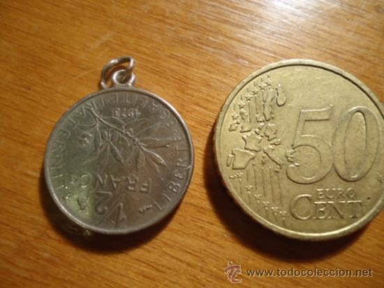 Medallas históricas: MEDALLA REALIZADA CON MONIEDA REPUBLICA FRANCESA , 12 FRANCO 1973 - Foto 2 - 38383647