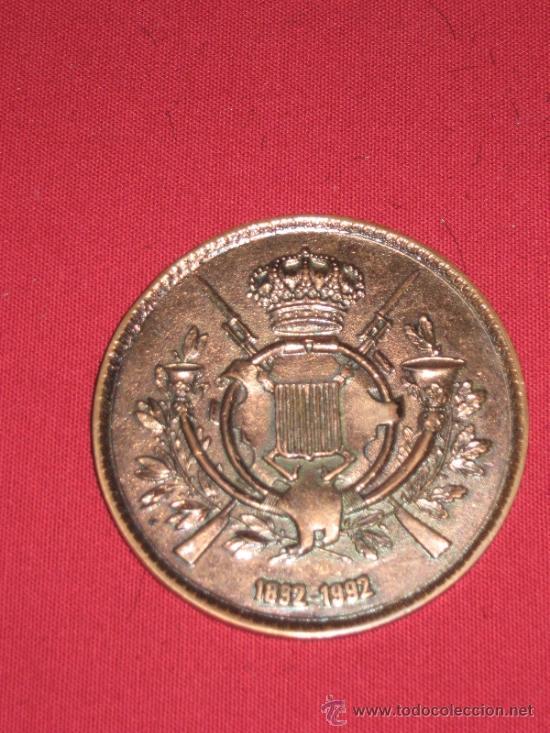 MEDALLA EL ARMA DE INFANTERIA EN LA PRIMERA CONMEMORACION DE SU EXCELSA PATRONA 1892/1992 COBRE (Numismática - Medallería - Histórica)