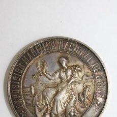 Medallas históricas: GRAN MEDALLA EXPOSICION MARITIMA NACIONAL DE CADIZ 1887 ( PLATA ). Lote 38972856