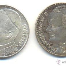 Medallas históricas: DOS BONITAS MEDALLAS DEL PAPA JUAN PABLO II VATICANO POLONIA DIÁMETRO: 35 MM. BAÑO DE PLATA. Lote 39629943