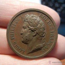 Medallas históricas: FRANCIA. MEDALLA LUIS FELIPE REY DE FRANCIA AL DUQUE DE ORLEANS PRÍNCIPE REAL. 1842.. Lote 40186433