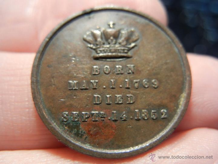 Medallas históricas: Inglaterra. Duque de Wellington. 1769 - 1852. - Foto 4 - 40186671