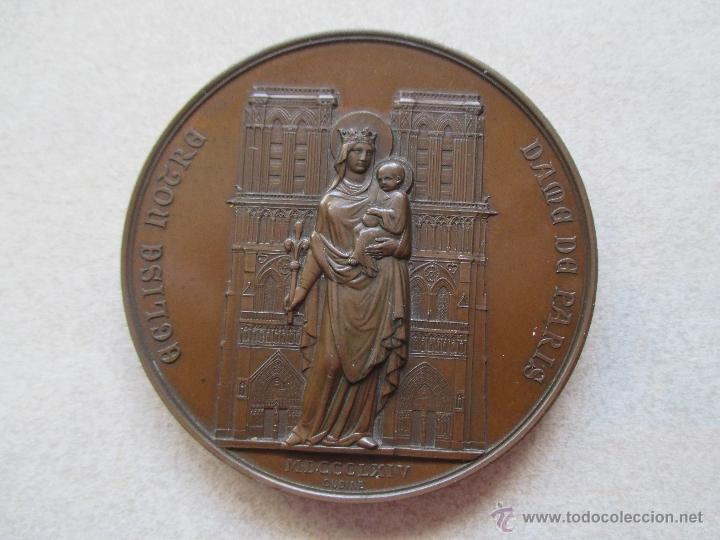 Medallas históricas: MEDALLA -1864 - RESTAURACIÓN Y CONSAGRACIÓN DE LA CATEDRAL NOTRE-DAME DE PARIS - Foto 1 - 40930437