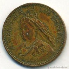 Medallas históricas: INGLATERRA. ANTIGUA MEDALLA DE LA REINA VICTORIA.. Lote 40930776