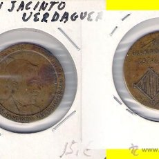 Medallas históricas: MOSSEN JACINTO VERDAGUER POETA CATALÁN. (C280).. Lote 28710745