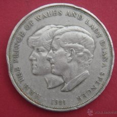 Medallas históricas: H.R.H. THE PRINCE OF WALES AND LADY DIANA SPENCER - 1981 - ELIZABETH II - PLATA - SILVER. Lote 41981712