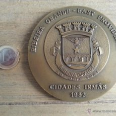 Medallas históricas: MEDALLA DE RIBEIRA GRANDE- EAST PROVIDENCE. CIDADES IRMAS. AÑO 1982.PORTUGAL. Lote 43288884