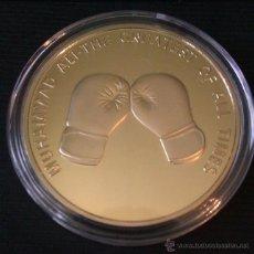 Medallas históricas: MONEDA ORO 24 KT MUHAMMAD ALI THE CHAMP GREATEST OF ALL TIMES CAMPEON DEL MUNDO BOXEO. Lote 43452628