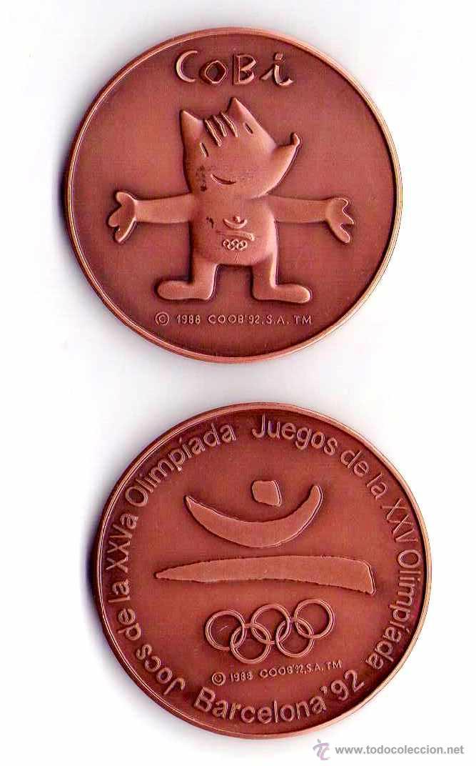 Medalla Oficial Juegos Olimpicos De Barcelona 1 Comprar Medallas