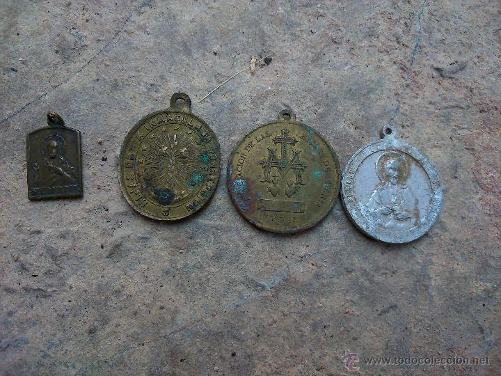 Medallas históricas: LOTE 4 MEDALLAS RELIGIOSAS - Foto 2 - 43828324