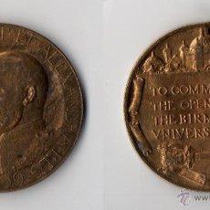 Medallas históricas: MEDALLA EDWARD VII. EDUARDO BIRMINGHAM UNIVERSITY OPENING 1909.. Lote 44025299