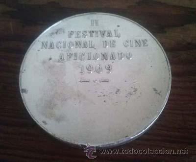 Medallas históricas: LUGO Circulo de de las Artes Medalla del II Festivial Nacional de Cine Aficionado 1969 Galicia - Foto 2 - 44032485
