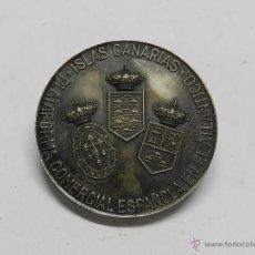 Medallas históricas: MEDALLA DE LA FERIA ESPAÑOLA DEL ATLÁNTICO. AÑO 1966. 1975. LAS PALMAS. REALIZADA EN BRONCE CON BAÑO. Lote 44054793