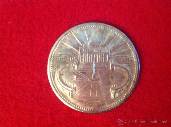 MEDALLA JUAN PABLO II, PLAZA DEL VATICANO PRECIOSA, 35 MM., (Numismática - Medallería - Histórica)