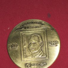 Medallas históricas: MEDALLA CONMEMORATIVA DEL PRIMER Y ULTIMO SELLO DE 1 PESETA 1873/2001 - AFINSA. Lote 44218735