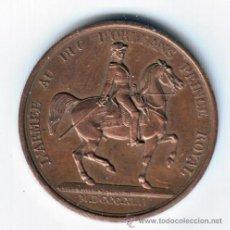 Medallas históricas: FRANCIA MEDALLA COBRE 1842 LOUIS PHILIPPE I - L'ARMÉE AU DUC D'ORLEANS PRINCE **NUMISBUR***. Lote 44787607