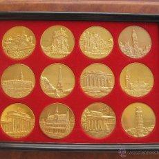 Medallas históricas: COLECCION 12 MEDALLAS DE LOS PAISES DE LA CEE. Lote 44964232