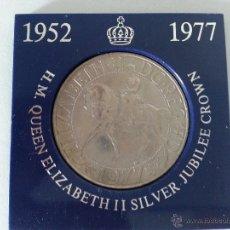 Medallas históricas: MEDALLA DE H.M.QUEEN ELIZABETH II SILVER JUBILEE CROWN-1952-1977. Lote 44967473