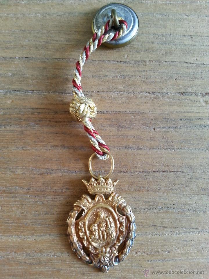 Medallas históricas: ANTIGUA MEDALLA CON ESCUDO DE HERCULES DE CADIZ EN PLATA DORADA CON CONTRASTES Y MEDALLITA DE SOLAP - Foto 9 - 45326499