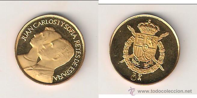 MEDALLA DE JUAN CARLOS I Y SOFIA REYES DE ESPAÑA. ORO. PROOF. (0252). (Numismática - Medallería - Histórica)