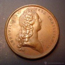Medallas históricas: MEDALLA LUIS XV 1726 - RESTITUCION AL TRONO DESPUES DE LA REGENCIA DEL DUQUE DE BORBON. Lote 45479000