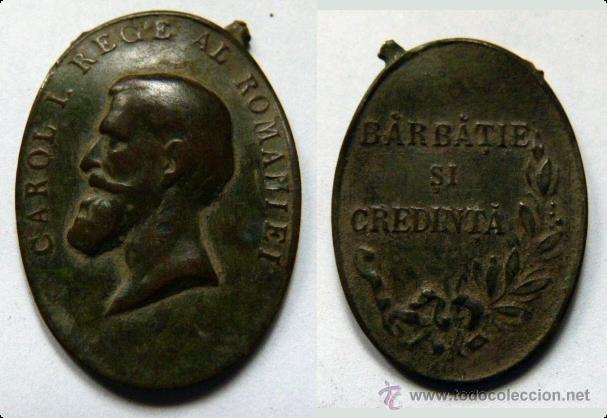 MEDALLA DE BRONCE CAROL I (Numismática - Medallería - Histórica)