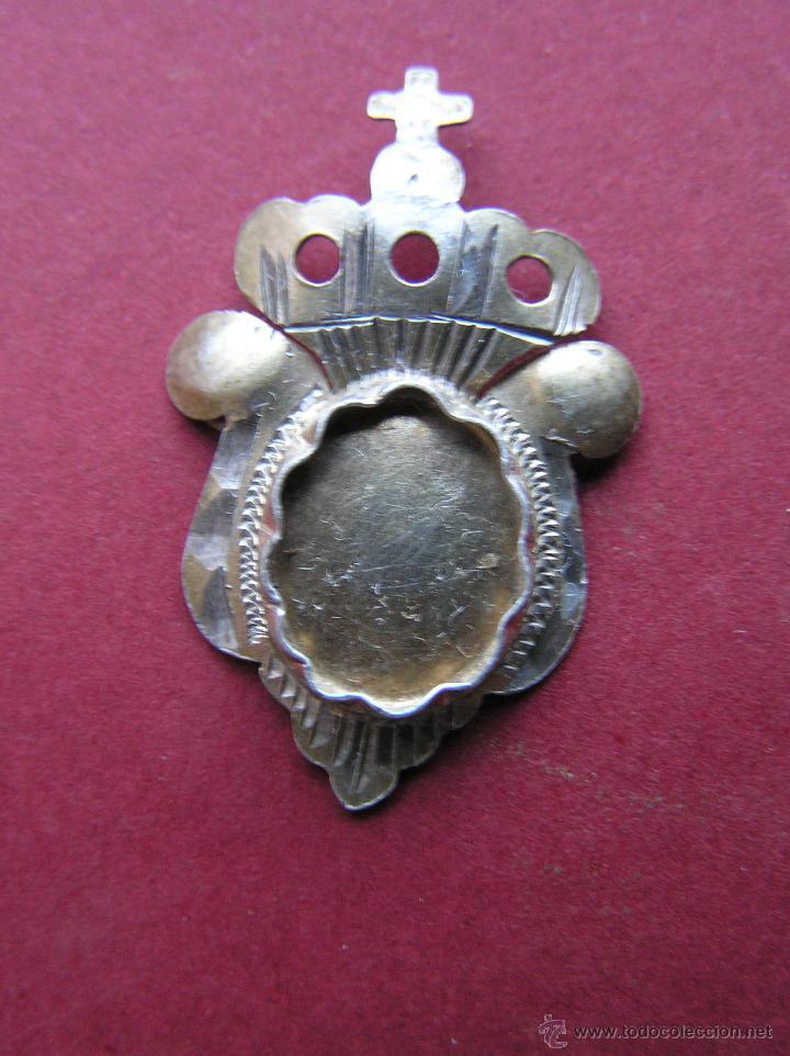 RELICARIO DE SOLAPA. PLATA BAÑADA EN ORO. SIGLO XVIII-XIX. (Numismática - Medallería - Histórica)