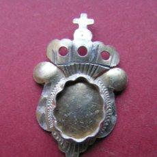 Medallas históricas: RELICARIO DE SOLAPA. PLATA BAÑADA EN ORO. SIGLO XVIII-XIX.. Lote 46295197