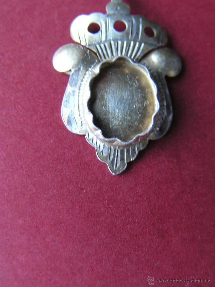 Medallas históricas: RELICARIO DE SOLAPA. PLATA BAÑADA EN ORO. SIGLO XVIII-XIX. - Foto 4 - 46295197