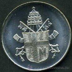 Medallas históricas: MEDALLON TIPO MONEDA ES DE PLATA ( JUAN PABLO II ESCUDO DEL VATICANO ) PESA 14 GRAMOS DE PLATA - P2. Lote 46542082