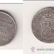 Medallas históricas: MEDALLA PROCLAMACIÓN ISABEL 2ª (II) MÓDULO DE 1 REAL DE 1833 ACUÑADA EN MADRID. PLATA. EBC+ (ISA1).. Lote 46574627