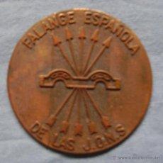 Medallas históricas: MEDALLA EN COBRE ESCUDO DE LA FALANGE. Lote 46762636
