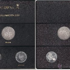 Medallas históricas: HOJA PARDO COMPLETA DE 2014 CON LA MEDALLA Y LAS 2 PRIMERAS MONEDAS DE FELIPE VI. SIN CIRCULAR.. Lote 46908544