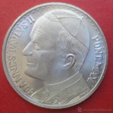 Medallas históricas: MONEDA. VIAJE DEL PAPA A ESPAÑA. JUAN PABLO II. Lote 47078859