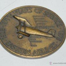 Medallas históricas: ANTIGUA MEDALLA 50 AÑOS DEL APOLO 8 NAVE ESPACIAL DE BRONCE, MIDE ,7,8 X 6,2 CMS. APROXIMADAMENTE. . Lote 47090267